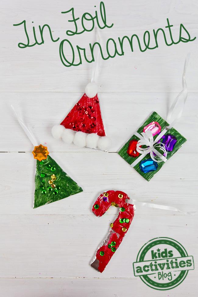 Christmas Activity Tin Foil Diy Ornaments