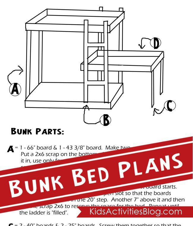 Triple bunk bed plans.