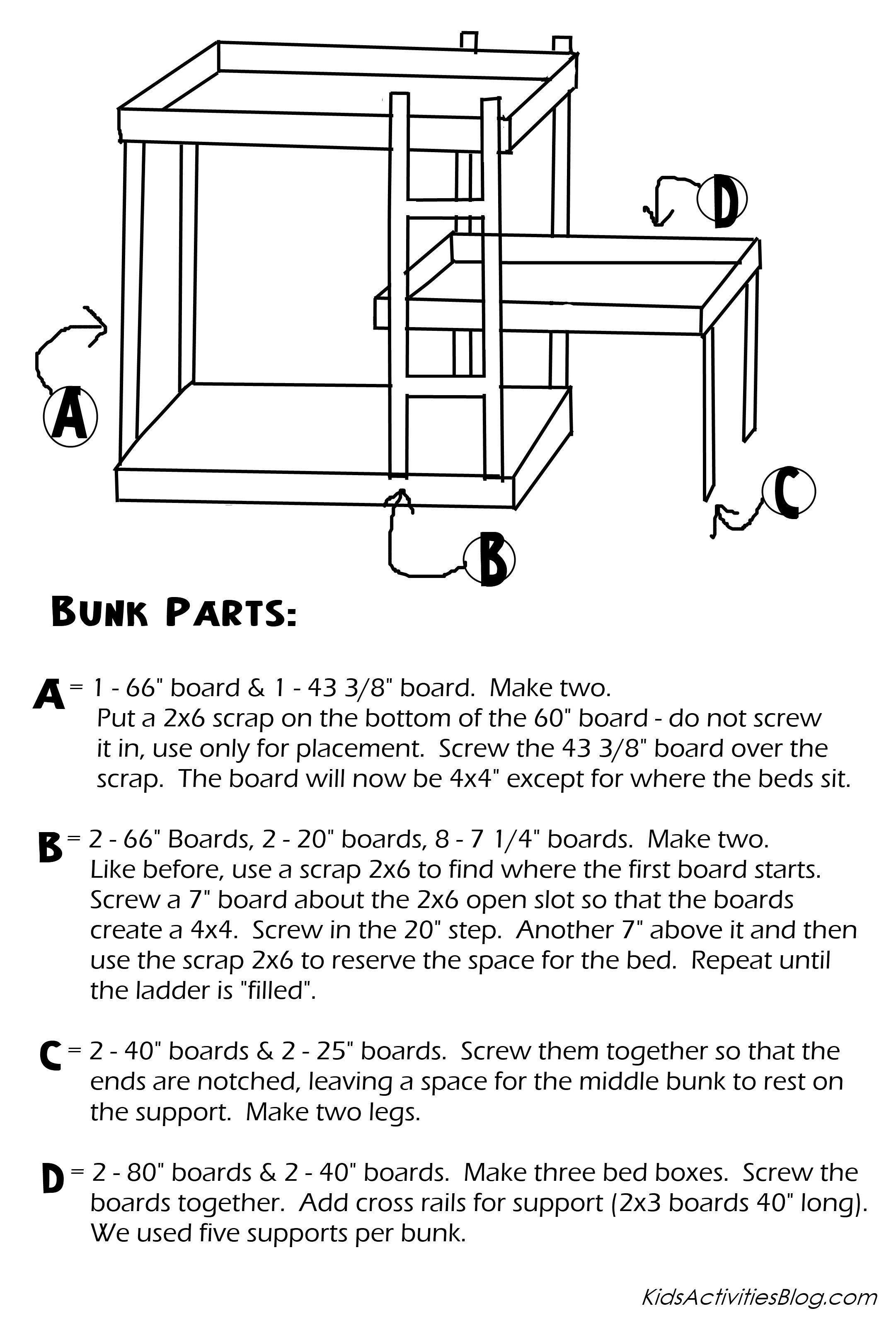 Build A Bunk Bed Free Plans