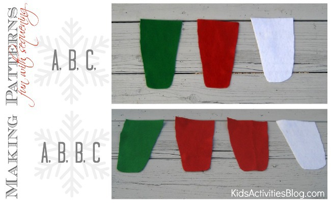 Christmas craft for kids pattern