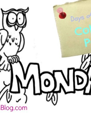 Monday coloring page - one of the days of the week coloring sheet series on Kids Activities Blog