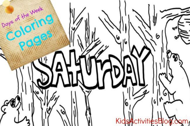 Saturday Coloring Page