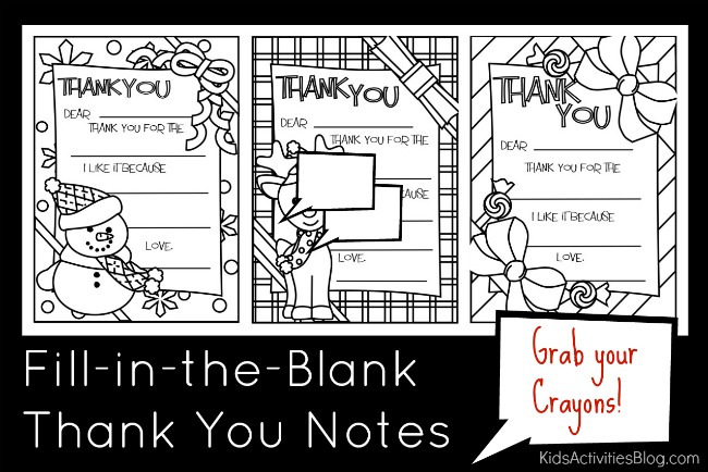 fill in the blank thank you notes that kids can color