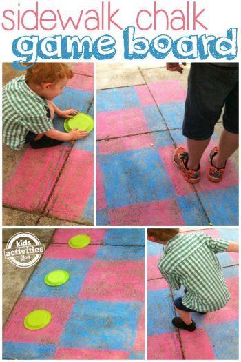 sidewalk chalk game board