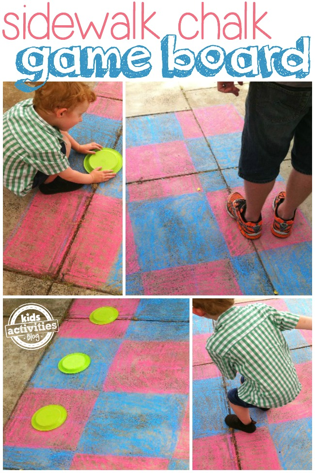 sidewalk chalk game board