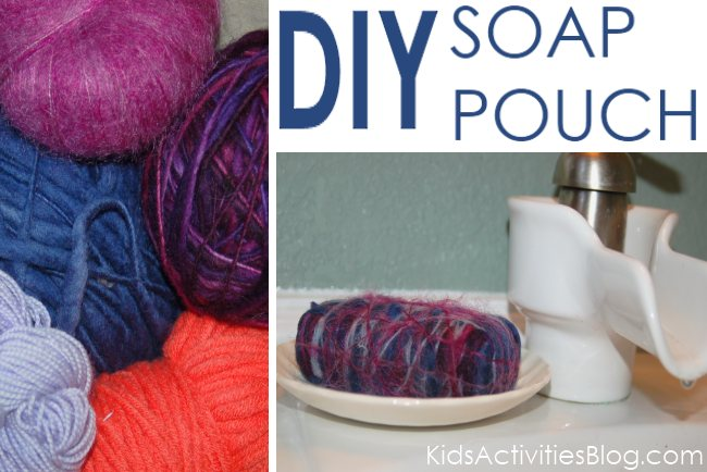 How to create a felted soap pouch - great for kids who drop the slippery soap.