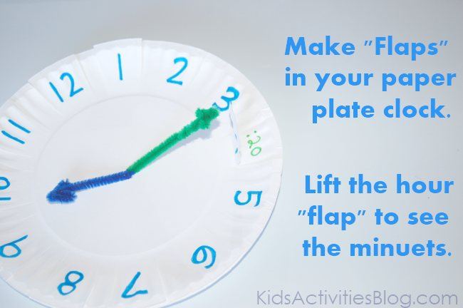 "how to make a ""telling time"" plate"