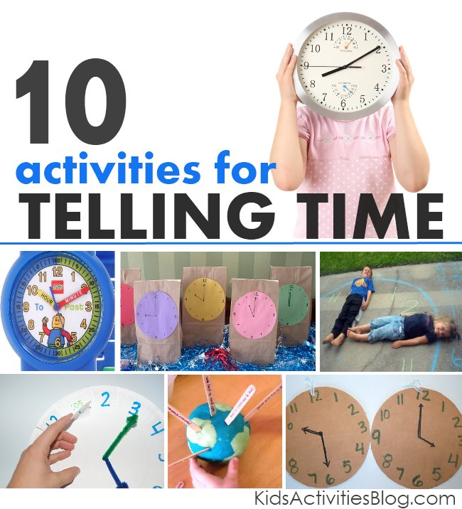 Tell time: a collection of activities for kids
