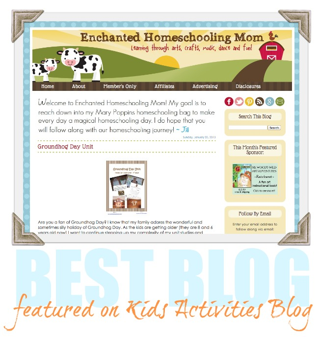 Enchanted Homeschooling Mom is a Kids Activities Blog Best Blog feature today