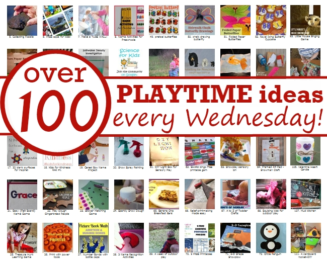 It's Playtime - every week 100+ kids activities are linked up in this kids meme.