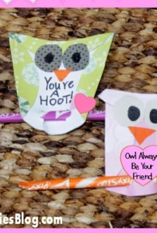 Owl Valentines Day cards that kids can make