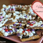 Easy Valentine's day recipe for kids - Valentine's Smores Bark