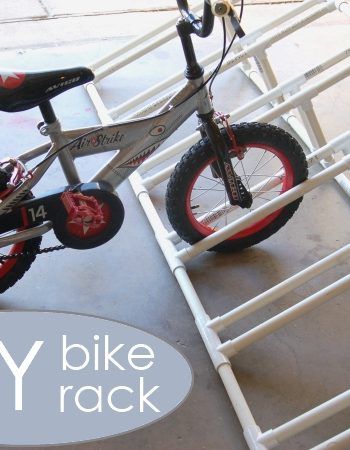 How to make a bike rack for kids