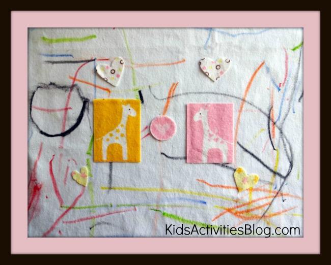 fabric art framed