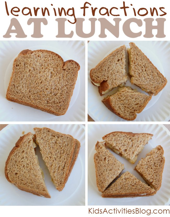 Math Fractions for kids {Learning with Food}