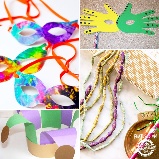 Mardi Gras Kids Crafts Part - 47: Kids Activities Blog
