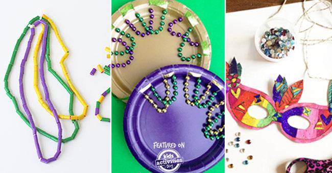 kids mardi gras crafts