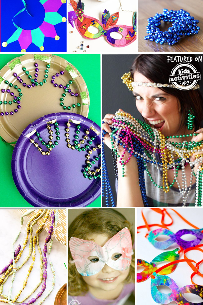 kids mardi gras crafts