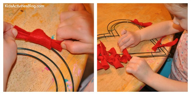 Make a Wreath for Kids on Valentines Day