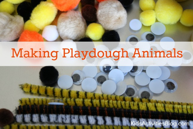 Kids love being creative as they make animals from playdough. Great kids activity!