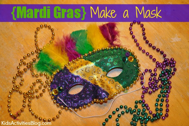Kids can make a mask for Mardi Gras