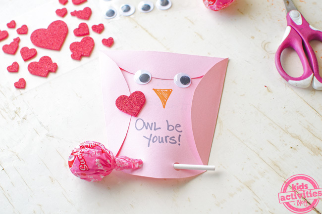 owl homemade valentines cards