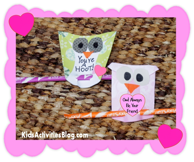 Cute owl Valentine cards that kids can make!