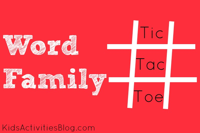 Here's a fun word family tic tac toe game to help your child learn to read