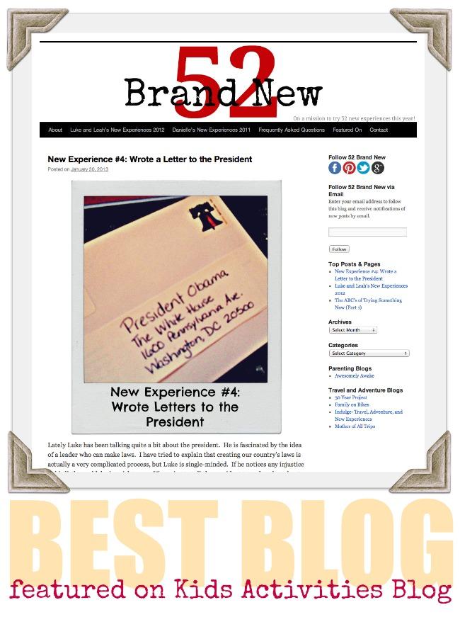 52 Brand New Blog