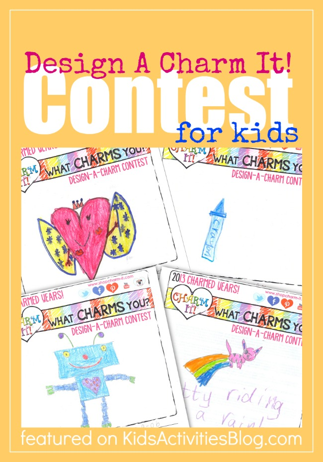 Design A Charm It Contest for kids