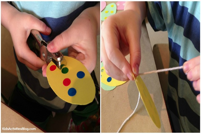This Easter craft for kids is also a great fine motor skills activity