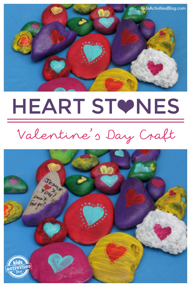 Heart Stones Valentine's Day Craft