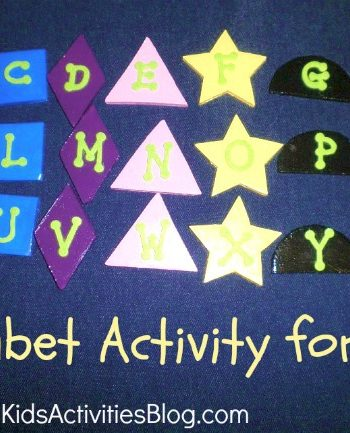 learning letters - alphabet activities