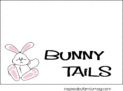 Free Printable for Bunny Tails Easter Treats {Kids Can Make}