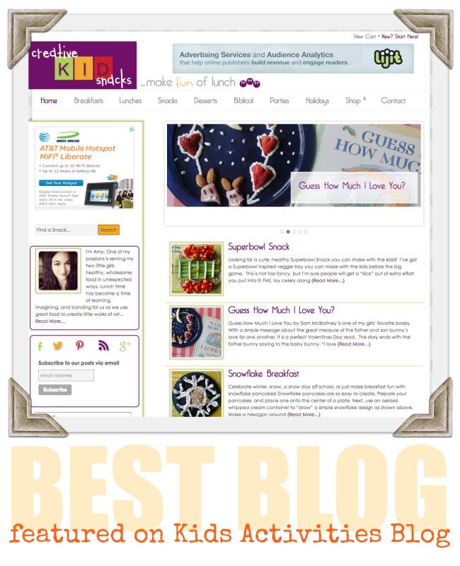 Best Blog} Creative Kid Snacks
