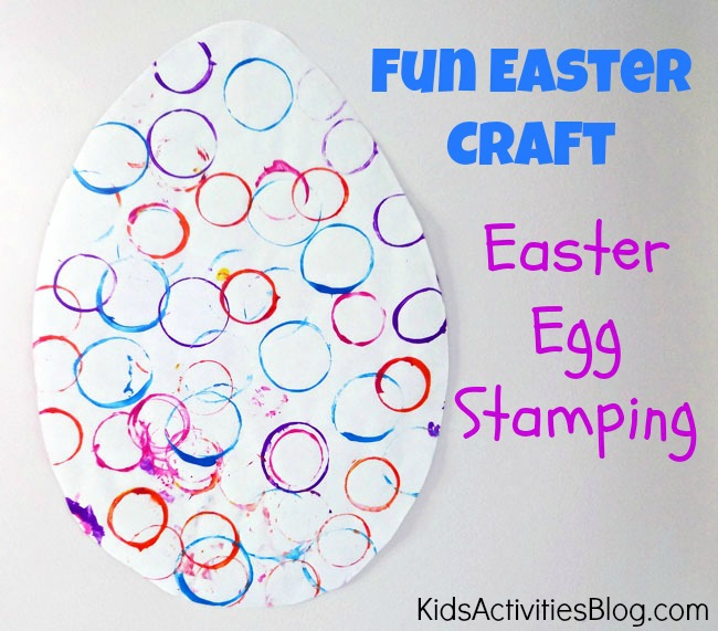 Make an Easter egg {Easter craft for preschool}