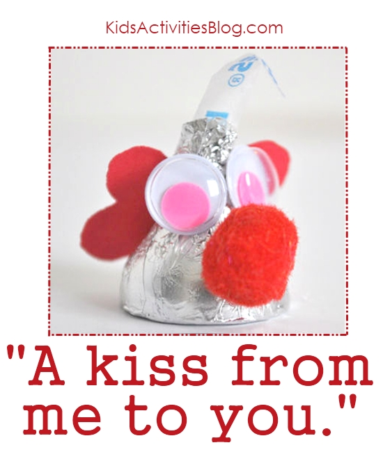 {Super Simple}A Hershy kiss valentine for kids to make