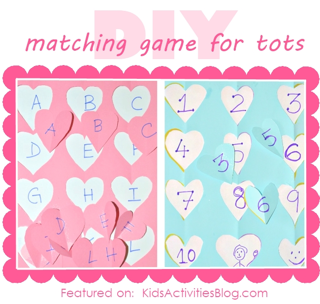 A fun matching game for toddlers {great learning activities for kids}