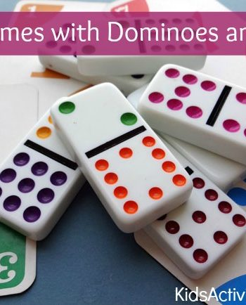 Here are some cool math games for kids that use dominoes and a deck of cards!