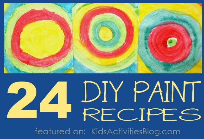 Make Paint! Here are 2 dozen paint recipes for kids