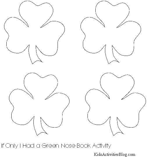 Shamrock Printable for If Only I Had a Green Nose by Max Lucado