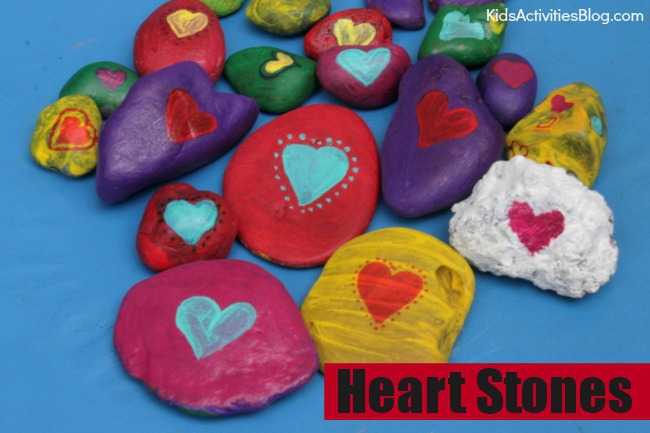 Kids can share the love this Valentine's Day with heart stones