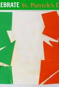 Celebrate St Patricks Day with this flag of Ireland activity for kids