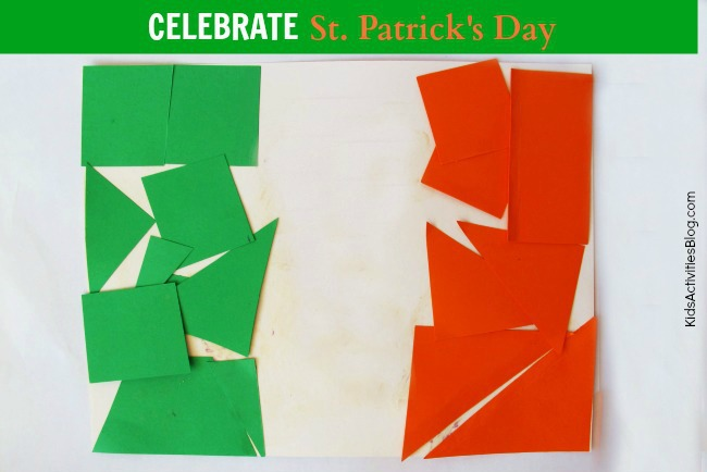Flag Of Ireland Activity For St Patricks Day
