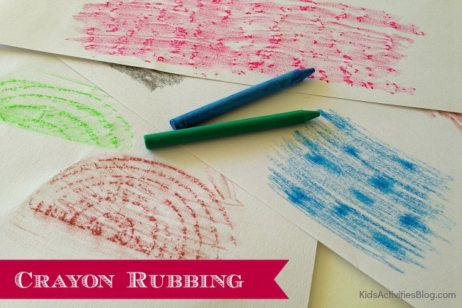 Wax Rubbing {Cute Crayon Art Ideas for Kids}