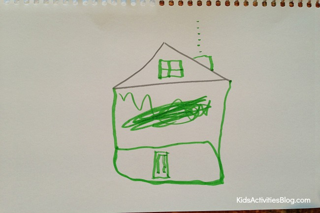 Family games: Drawing game with simple drawing prompts