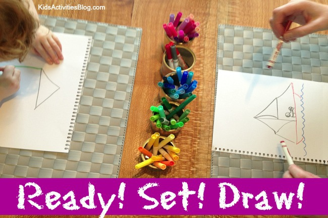 creative drawing game simple drawing prompts family games