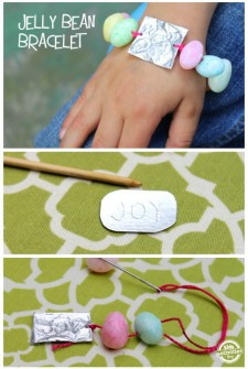 Sweet Easter Craft: Make a Bracelet {with Jelly Beans!}