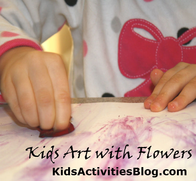 Kids Art With Flowers
