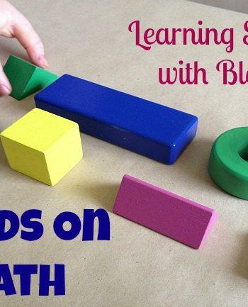 Math Game: Geometric Shapes {Hands On Math}